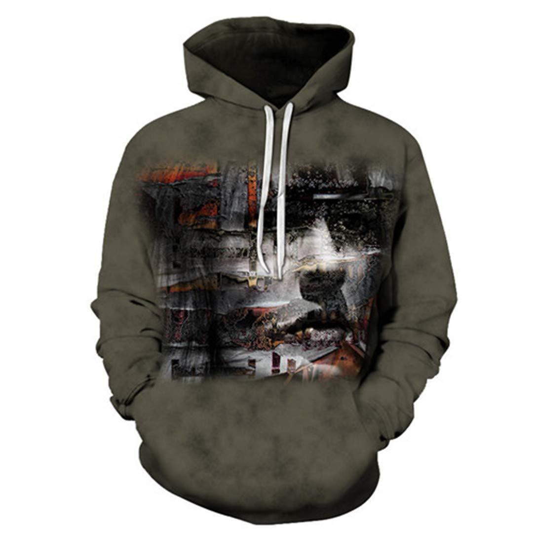 Wolf Unisex Hoodie 3D Print Animal Sweatshirts Pullover Harajuku Mens Hoody Streetwear Coat