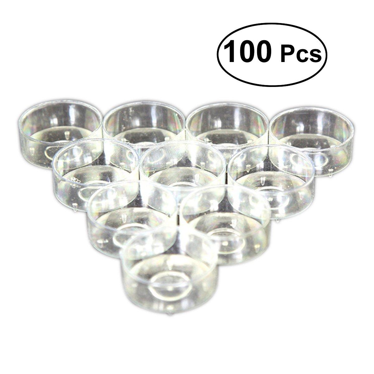 ROSENICE Portacandele in plastica Candela trasparente Per le forniture di tempio 100 pezzi