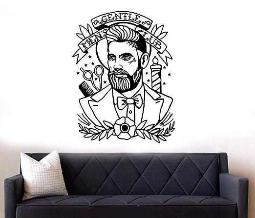 zqyjhkou Vinilo de la Pared Stiker Barber Shop Hipster ...