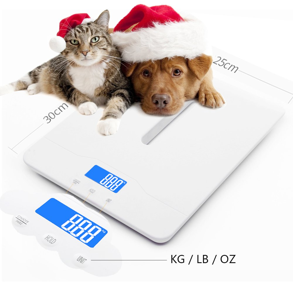 Multi-Function Digital Pet Scale to Measure Dog and Cat Weight Accurately Up to 220 Lbs, Precision at ± 10g, Blue Backlight, Especially for Pregnant Cats and Baby Pets (60 cm) by TeaTime (Image #2)
