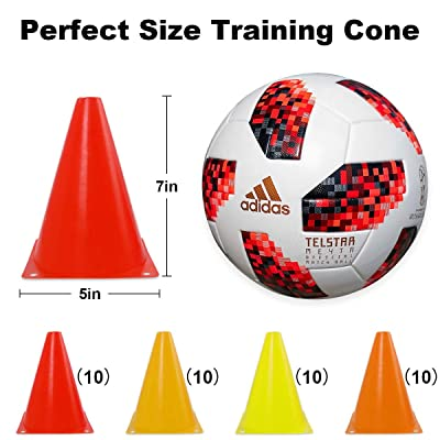 Training Traffic Cone 4 Pack cones boundary sports pitch markers marking ground