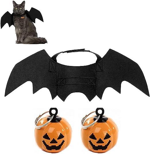 Fyeep Disfraz de murciélago de Mascota de Halloween Alas Campanas ...