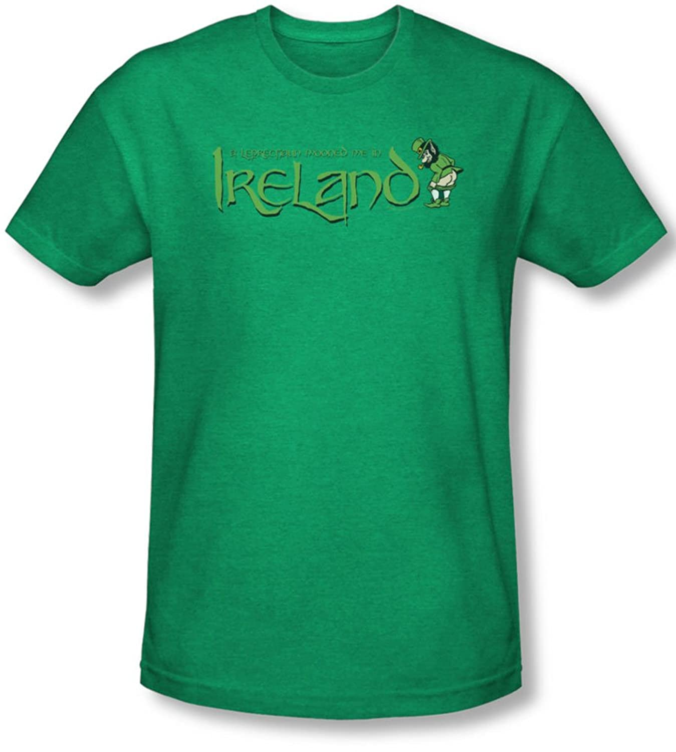 Leprechaun Moon - Mens T-Shirt In Kelly Green, Large, Kelly Green