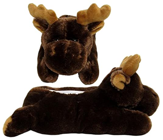 "Wishpets Stuffed Animal - Soft Plush Toy for Kids - 10"" Moose Slippers"