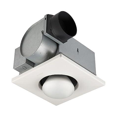 Broan 162 Type IC Infrared Single Bulb Ceiling Heater With Fan, 250 Watt