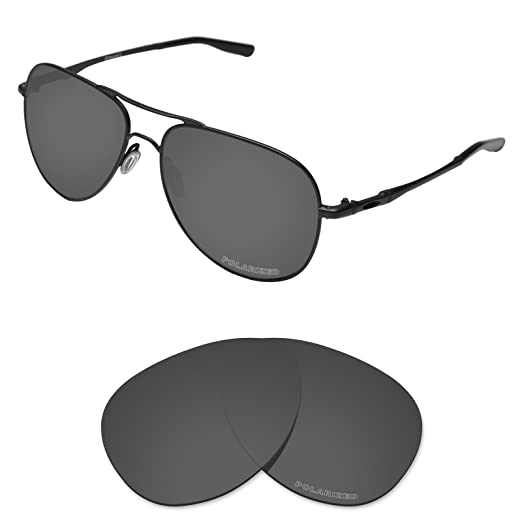 7523ee1838 Tintart Performance Lenses Compatible with Oakley Elmont L Polarized Etched-Carbon  Black