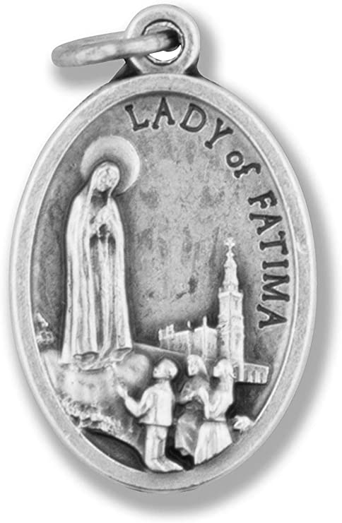 Our Lady of Fatima Medal Pendant Small