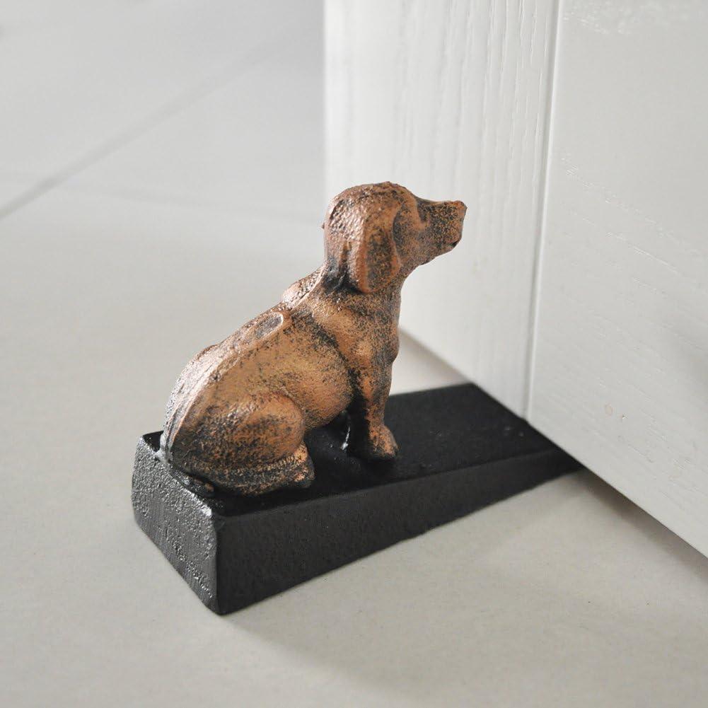 Bath and Exeterior Doors 3.9x6 Earl Diamond Door Wedge Dog Cast Iron Door Stop Decorative Rustic Door Stoppers- Stop Your Bedroom Dog