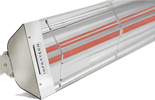 Infratech WD4024SS Dual Element – 4000 Watt Electric Patio Heater, Choose Finish Stainless Steel