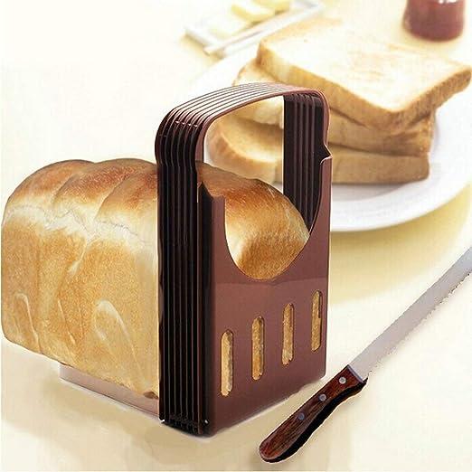 Corte de pan Plegable para Hornear pan Sandwich pan Cortadora pan Tostado Rebanada Cortador Rodajas Incluso Herramienta de la Guía: Amazon.es: Hogar