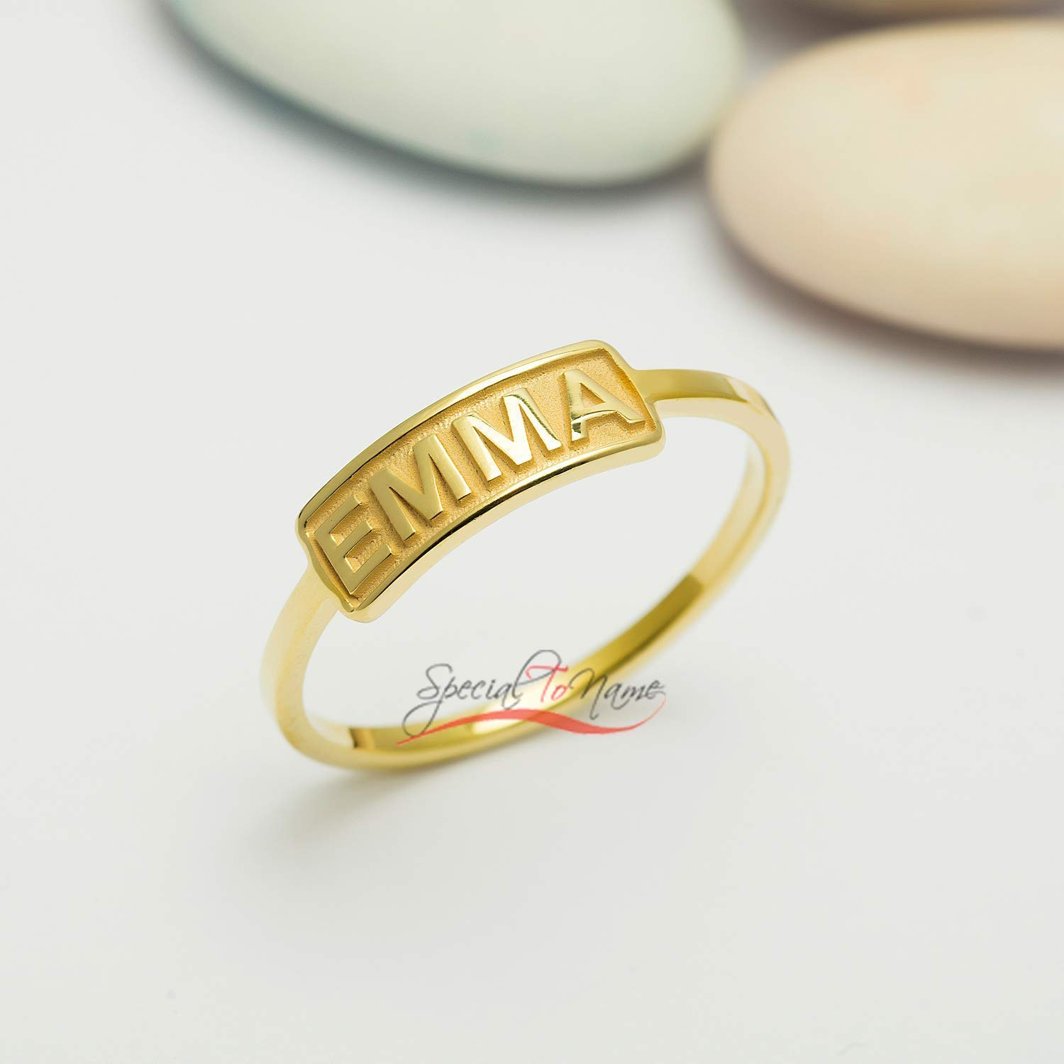 Grandma Gifts Custom Name Ring Personalized Gift for Her Gold Name Jewelry Silver Name Ring 1 Gift for Mom Christmas Gift