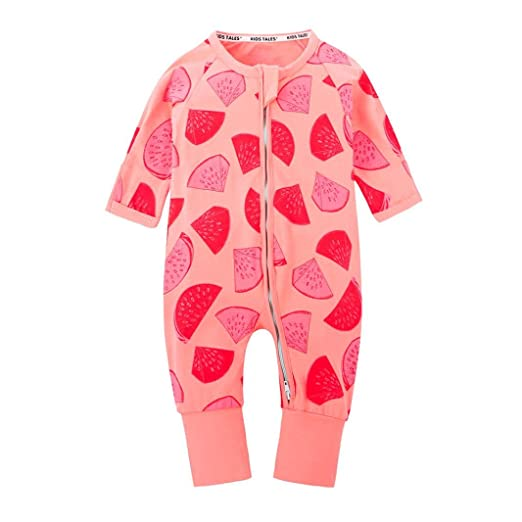 7a3336e61b10 Amazon.com  Newborn Baby Girls Boys Long Sleeve Watermelon Printing ...