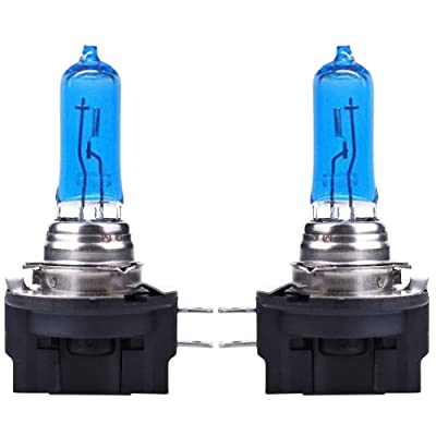 2x H11B Halogen 55W 7500K 12V Low-Beam Car Headlight Bulbs Bright White Xenon: Garden & Outdoor