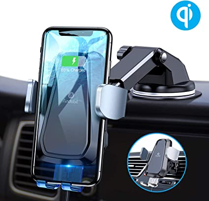Auto-Clamping Car Wireless Charger Air Vent Dashboard Car Mount Compatible//w iPhone 11 Series//X//XR//8 Galaxy Note10//S10//S20 Series Qi Car Charger 10W//7.5W Mpow Car Phone Mount Wireless Charger