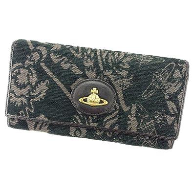 1d97be12a088 (ヴィヴィアン ウエストウッド) Vivienne Westwood 長財布 ファスナー付き 財布 ブラック グレー 灰色 ゴールド