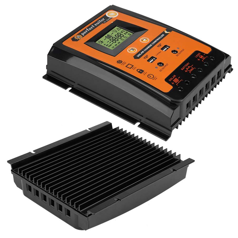 70A Keenso 12V//24V 30A//50A//70A MPPT Controlador de carga solar Panel solar Regulador de bater/ía Pantalla USB dual LCD