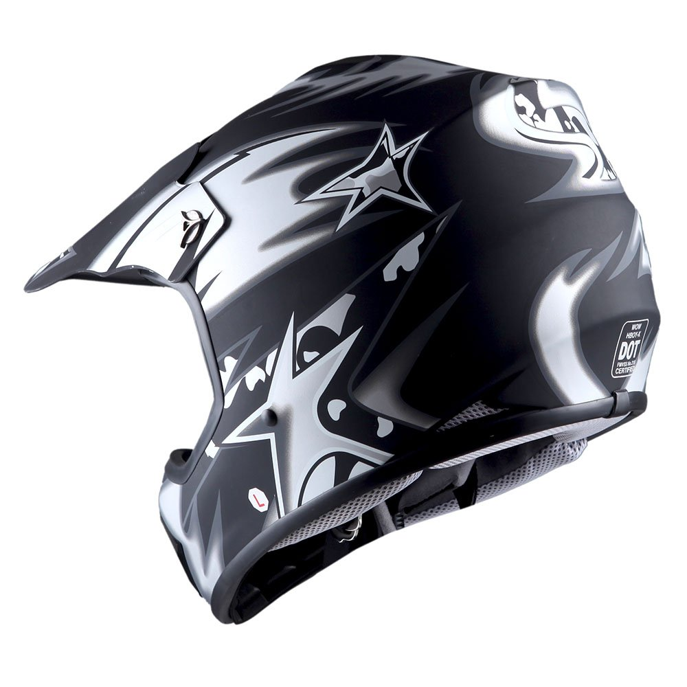 WOW Youth Kids Motocross BMX MX ATV Dirt Bike Helmet Star Matt Green