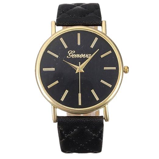 WINWINTOM Mujeres Ginebra romana reloj de pulsera Negro  Amazon.es  Relojes 25eca25c9915