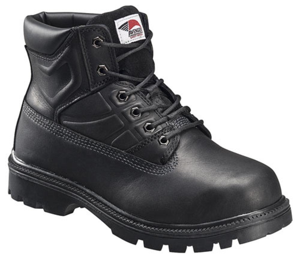 Avenger Men's 6'' Steel Toe Boots,Black,15 M