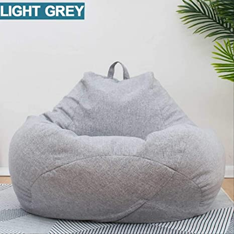 KCPERMAN Lazy Beanbag Sofas Without Linen Cloth Lounger Seat ...
