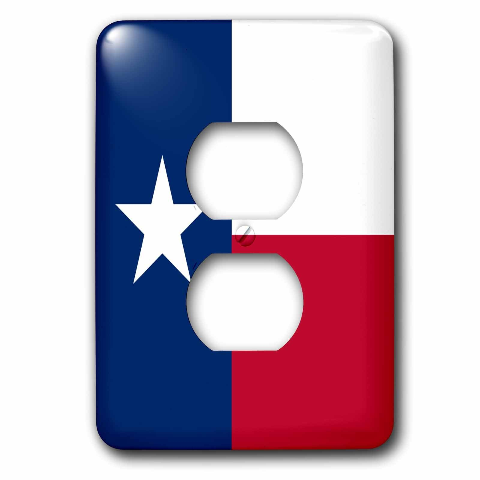 3dRose LLC lsp_158447_6 Flag of Texas Tx - Us American United State of America USA - Blue Red White - The Lone Star Flag 2 Plug Outlet Cover by 3dRose