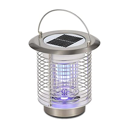 Solar Mosquito Zapper Repellents Electric Shock Insect Killer Camping LED Lights