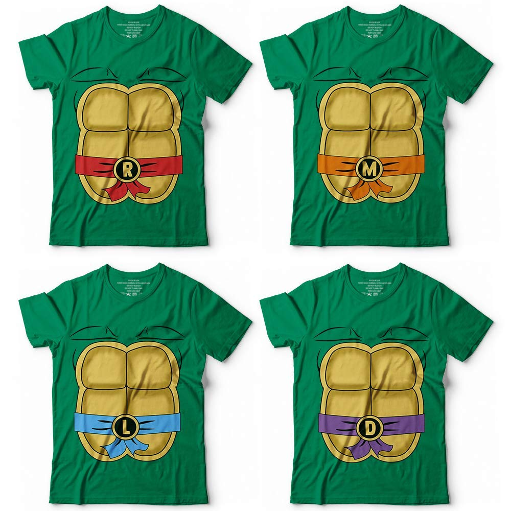 Teenage Ninja Turtle Costume R M L M Halloween Cosplay Matching Customized Handmade T-shirt/Hoodie / Sweater/Long Sleeve/Tank Top/Premium T-shirt