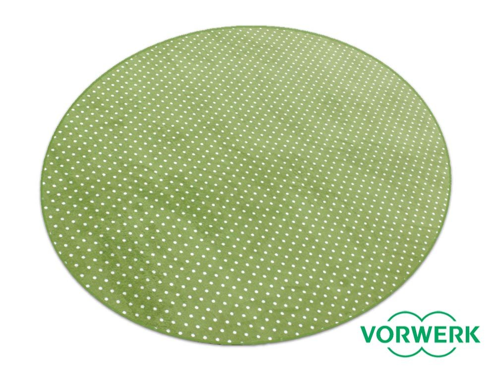 HEVO Vorwerk Bijou Petticoat grün Teppich   Kinderteppich   Spielteppich 200 cm Ø Rund SondeROTition