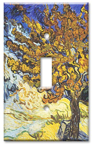 Light Switch Cover Art (Art Plates - Van Gogh: Mulberry Tree Switch Plate - Single Toggle)