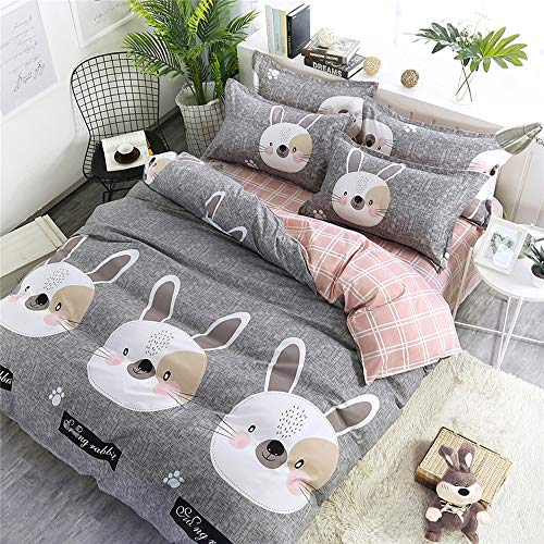 Classic 200tc Cotton - UECNLD Home Textile Child Teen Boy Bedding Set Duvet Quilt Cover Pillow Case Sheet Girl Adult Bed Linens Suit,16,Queen,Flat Bed Sheet