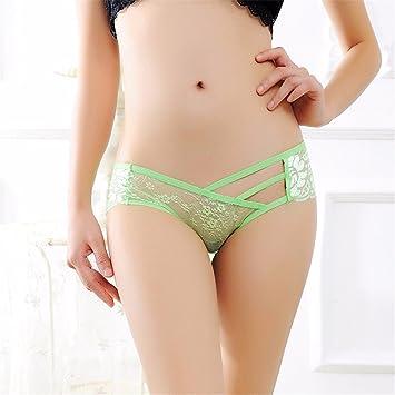 Sexy Bragas Gauzy transparentes encajes ropa interior femenina mujeres tentación Cintura baja Briefs Lenceria Sexy ,