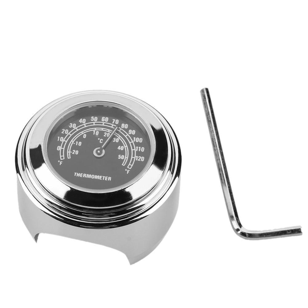 tuankay 22//25 mm Motorrad-Lenkermontage-TEM Thermometer f/ür Harley schwarz