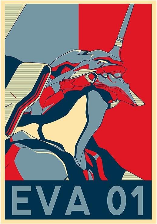 Amazon Com Poster Evangelion Propaganda Eva 01 Formato A3 42x30 Cm Kitchen Dining