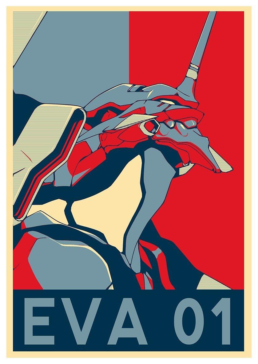 evangelion mechas robot anime gainax