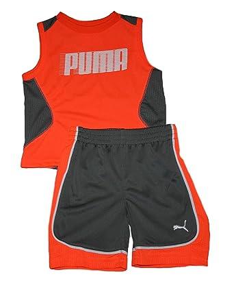 567c9eb9352a Amazon.com  PUMA Baby Boys Shorts and Muscle Shirt Set - 2 pc. (18 ...