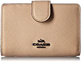 Coach Crossgrain Leather Medium Corner Zip Wallet Color DK/Beechwood Style No. 52336 DKEQO
