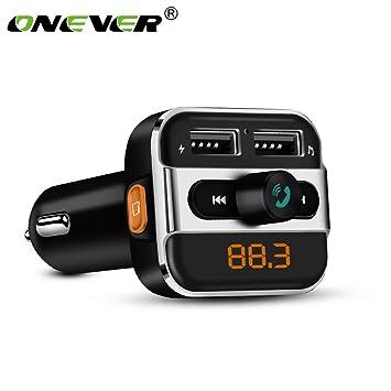 Bluetooth4.0 Car Kit MP3 Player FM Transmitter 2.1A Single USB Car Charger w Mic