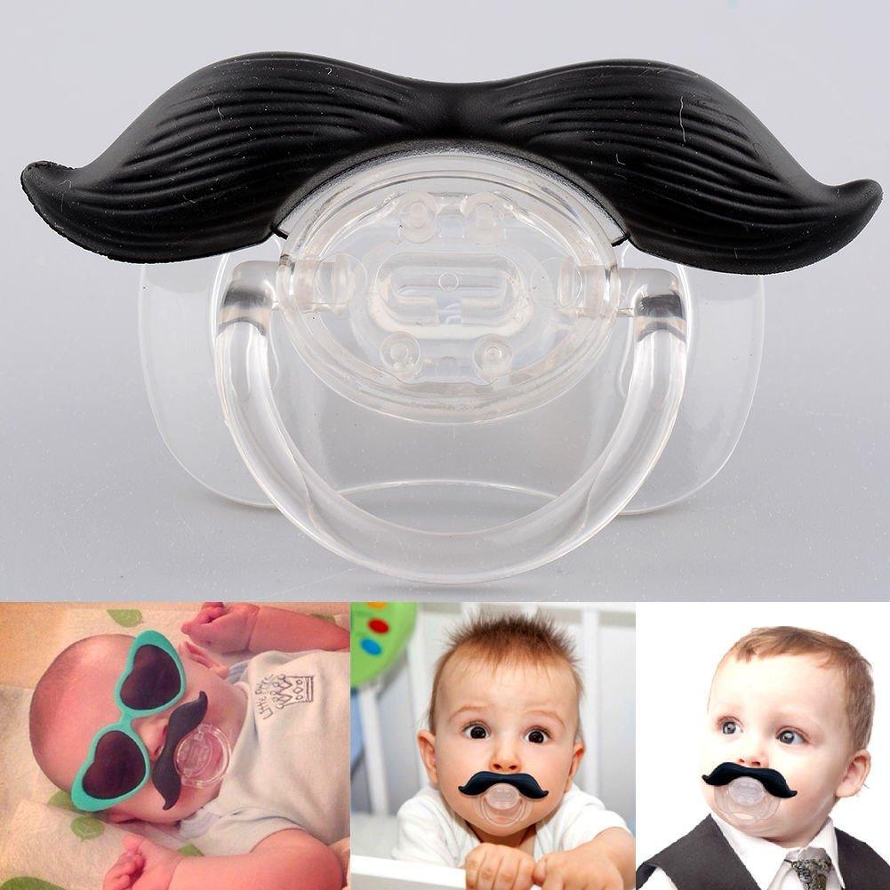 A Greetuny 1X Chupete con bigote para Reci/én Nacido Beb/é Sin BPA Tetina Chupete de silicona Divertido Chupete Bonito regalo para beb/é