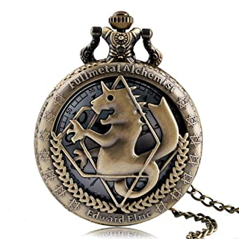 Amazon.com: Vintage Pocket Watch, Fullmetal Alchemist Bronze Horse Pocket Watches for Boys Girls, Hollow Quartz Pocket Watch Gift: Watches