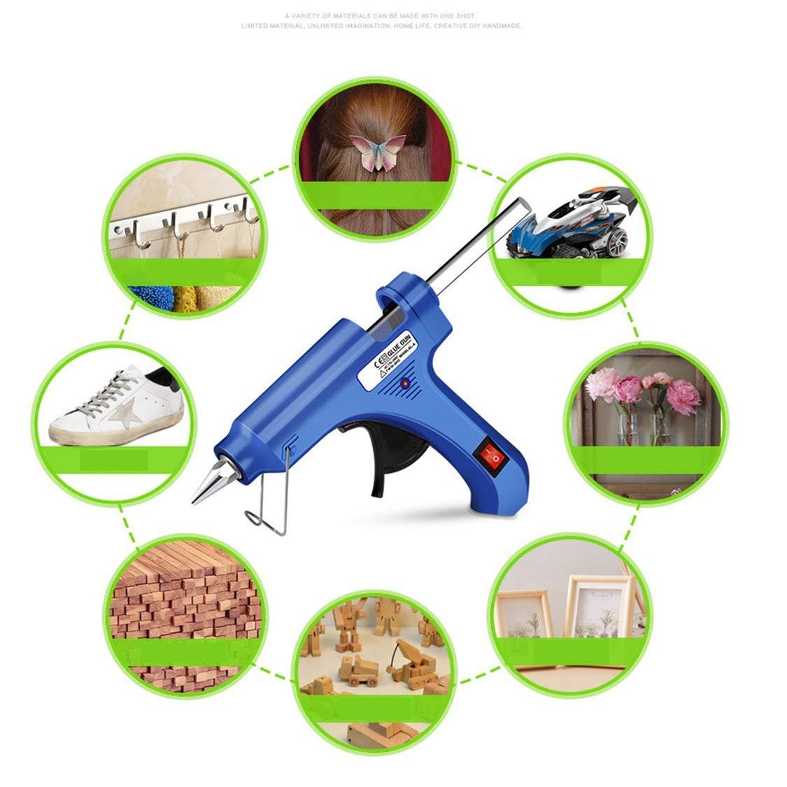Multifonctionnel 20W haute temp/érature chauffage fondre un outil de r/éparation de pistolet /à colle chaude pistolet /à chaleur mini pistolet temp/érature de la chaleur /électrique outil bleu