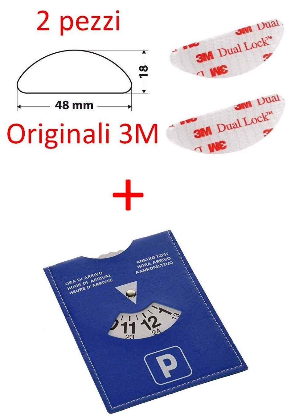 StickersLab Adesivo velcro per fissaggio Telepass originale 3M Dual Lock 4