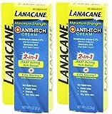 Lanacane Anti-Itch Cream Maximum Strength, 1 Ounce (Pack of 2)