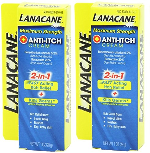 Lanacane Anti-Itch Cream Maximum Strength, 1 Ounce (Pack of 2)