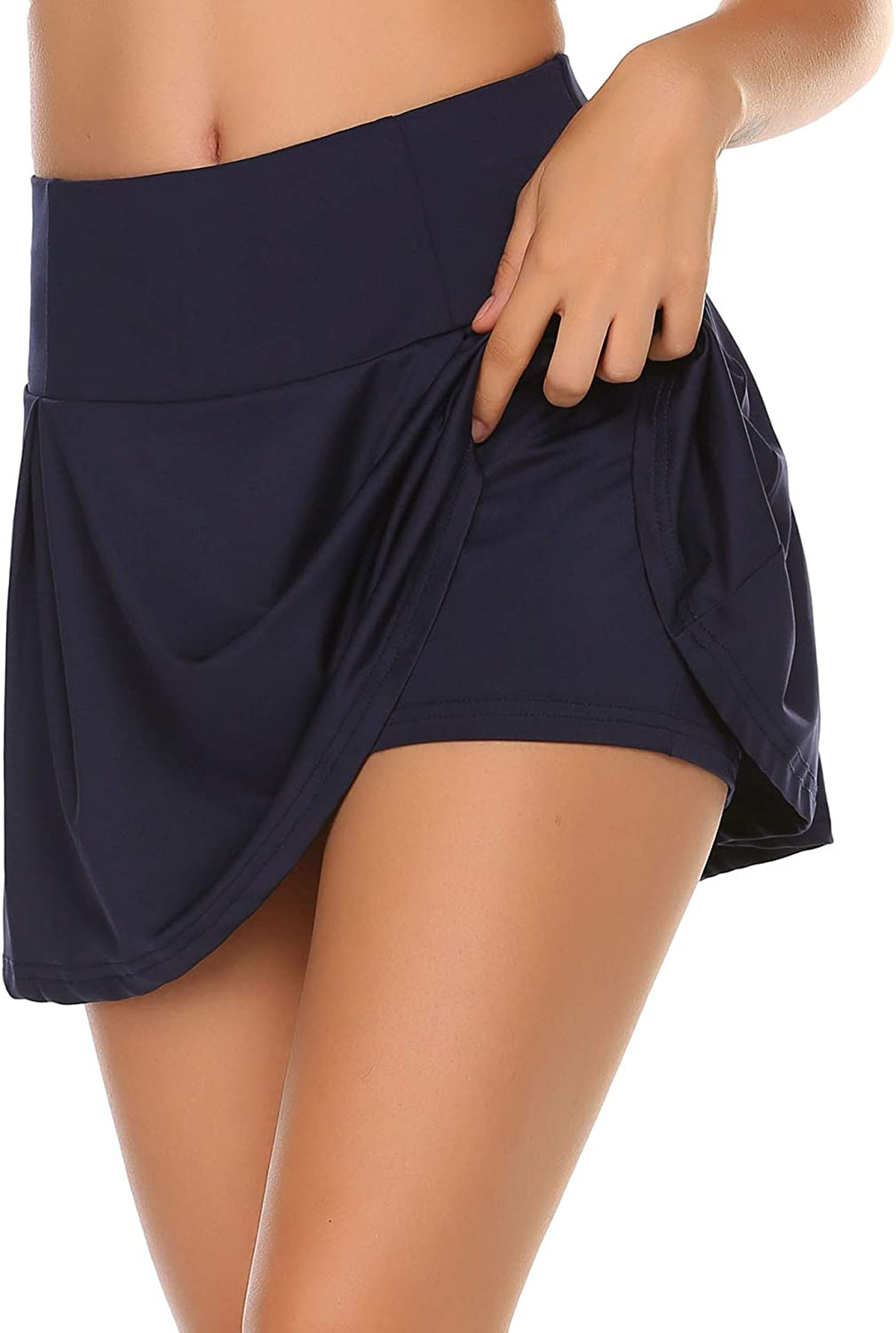 ACEVOG Women's Athletic Skorts Lightweight Pleated Active Skirts with Shorts Running Tennis Golf Workout Sports