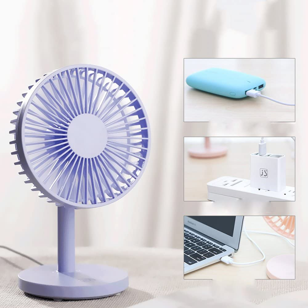Mobile Power and PC for Home Office Optional Color 4 Inch 3-Speed Portable Cooling Fan USB Computer Silent Operation DR Mini USB Clip and Desktop Personal Fan Mini Fan Desk Fan