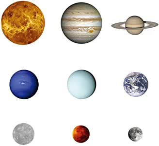 Luminous Wall Sticker Nine Planets Solar System Removable Wall Decoration