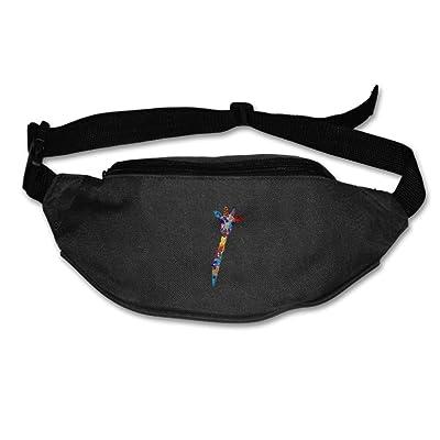 Unisex Pockets Giraffe Waterproof Fanny Pack Waist / Bum Bag Adjustable Belt Bags Running Cycling Fishing Sport Waist Bags Black