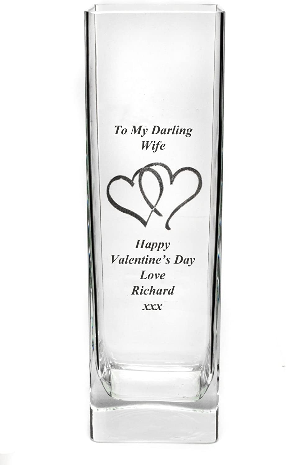 Personalised Engraved Crystal Glass Bud Vase Mother Of Bride Bridesmaid Gift