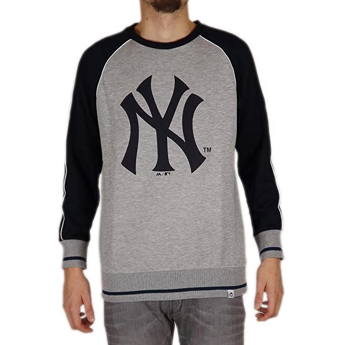Sudadera Majestic – Mlb New York Yankees Fleece Raglan gris/azul talla: S (