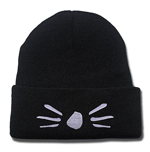 bece188742c Image Unavailable. Image not available for. Color  Dan and Phil Cat  Whiskers Logo Beanie Fashion Unisex Embroidery Beanies Skullies Knitted  Hats Skull Caps